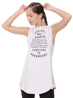 Super Comfortable and soft organic cotton Zipper Tank