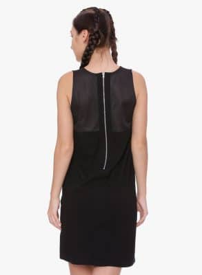 Mesh Panelled Dress Colour Black Size L