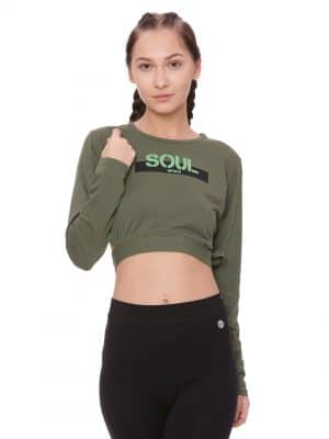 Super Comfortable and soft organic cotton Thumb Hole Crop
