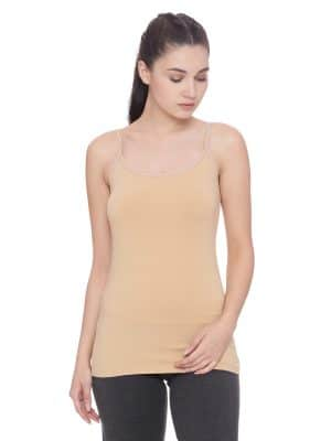 Super comfortable  soft and stylish organic cotton camisole:Colour Nude Size XL