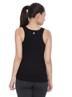 Soft and stylish organic cotton Tank Top:Colour Black Size XL