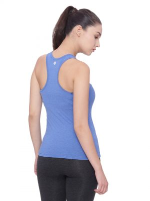 Super comfortable  soft and stylish organic cotton Racer Back Tank Top :Colour Electric Blue Size L