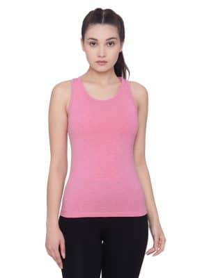 Super comfortable  soft and stylish organic cotton Racer Back Tank Top :Colour Bubblegum Pink Size L