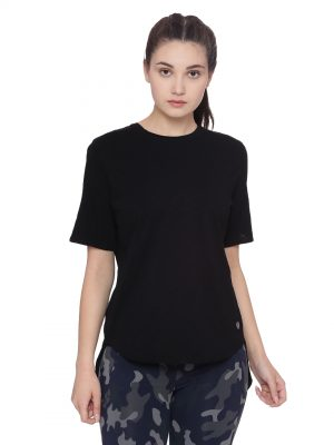 Super comfortable  soft and stylish organic cotton Layer Tee:Colour Black Size XL