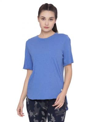 Super comfortable  soft and stylish organic cotton Layer Tee:Colour Electric Blue Size XL