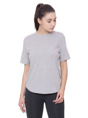 Super comfortable  soft and stylish organic cotton Layer Tee:Colour Pewter Grey Size XL