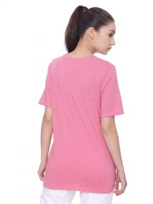 Super comfortable  soft and stylish organic cotton Layer Tee:Colour Bubblegum Pink Size XL