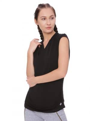 Super Comfortable and soft organic cotton Wrap Top Colour Black Size XL