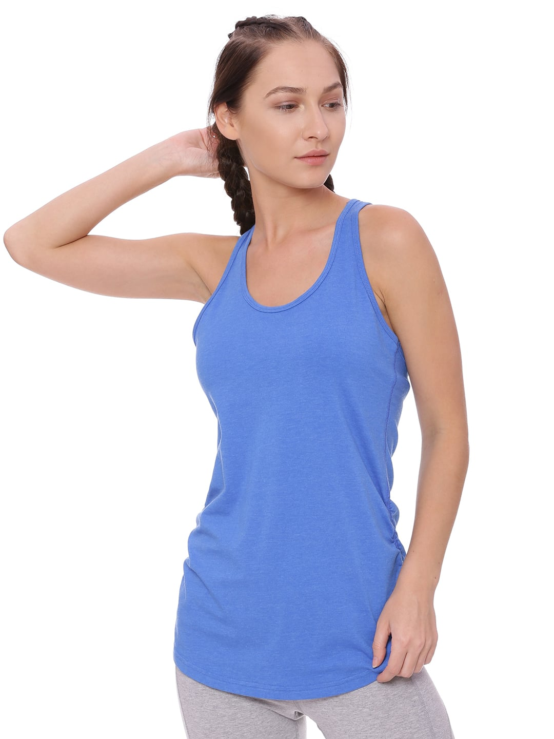 Super Comfortable and soft organic cotton Tank Top Colour Electric Blue Size XL
