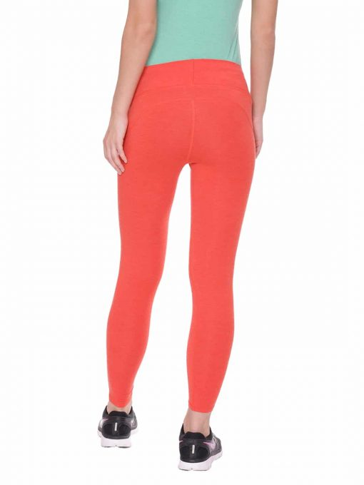 Super Comfortable and soft organic cotton Cropped Leggings with pockets Colour Hot Red Size XL