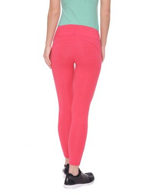 Super Comfortable and soft organic cotton Cropped Leggings with pockets Colour Pink Size XL