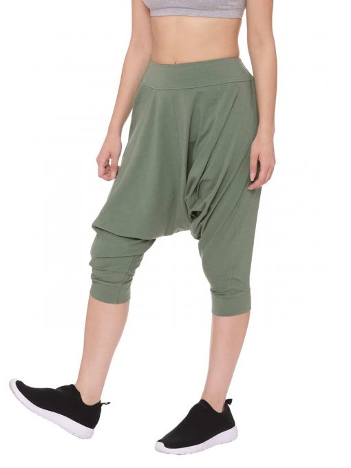 Super Comfortable and soft organic cotton Dhoti Pants Colour Olive Size XL