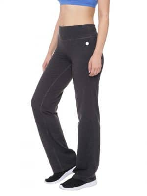 Super Comfortable and soft organic cotton Yoga Pants Colour Anthra Melange Size XL