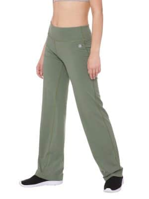 Super Comfortable and soft organic cotton Yoga Pants Colour Olive Size XL